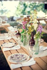 For The Table Vintage Wedding Receptionrustic Outdoor Chicrustic