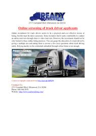 100 Trucking Online Screening Of Truck Driver Applicants