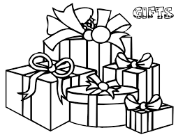 Bunch Of Christmas Gifts For Everyone Coloring Page