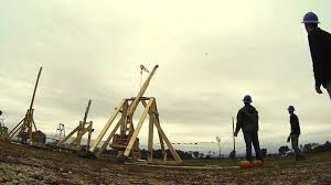 Clarence Pumpkin Farm Trebuchet by Trebuchet Competition Day 2015 Youtube