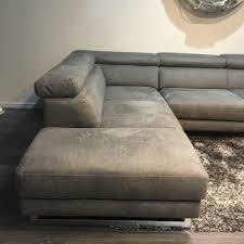 natuzzi editions ancona right hand fabric corner sofa