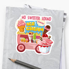 100 Ice Cream Truck Sounds No Sweeter Sound Stickers By Peacockcards Redbubble