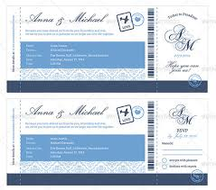 Elegant Boarding Pass Wedding Invitation Download 4