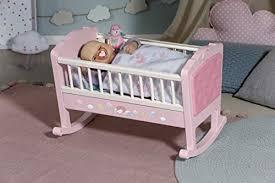 zapf creation 703236 baby annabell sweet dreams wiege puppenwiege mit automatischer schaukelfunktion und melodie puppenzubehör für puppen bis ca 43