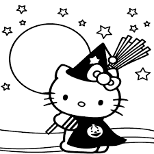 Hello Kitty Coloring Pages Halloween