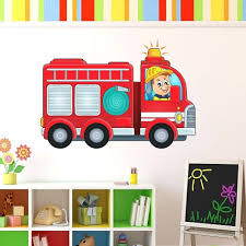 100 Fire Truck Wall Decals Showing Gallery Of Art View 13 Of 15 Photos