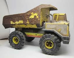 Vintage Rusted Tonka Yellow Dump Truck | Olde Good Things