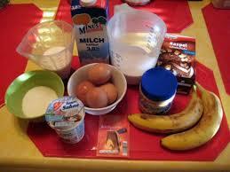 bananen erdnussbutter schoko kuchen