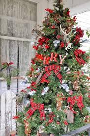 A Rustic Plaid Farm House Cabin Christmas Tree By Kara Allen