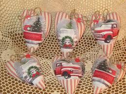 SET OF 6 Handmade Old Red Truck Fabric Heart Ornaments Christmas ... Christmas Red Truck Fabric Door Hanger Unique Home Decor Wreath Patchwork Quilting Sewing Coal Ming Truck Panel 90x110cm New Fire Hook Ladder Cotton Etsy Pin By Beautiful Quilt On Car Pinterest Ford Truck Fabric Abby Tictail Collage Joann 4 Handmade Old Stars Cabinet Hangers Boys Stop 12 Yard Food Trucks Taco Bacon Patriotic Monster Iron Applique Embroidered Red 41 Off 2018 Tree 3d Digital Prting