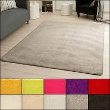 details zu kurzflor teppich cambridge velours läufer groß und klein wohnzimmer