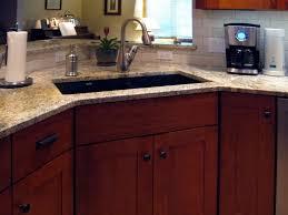 Corner Kitchen Cabinet Ideas by Kitchen Attractive White Self Rimming Corner Kitchen Sink With