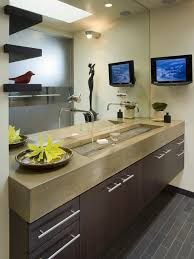 Small Trough Bathroom Sink With Two Faucets by How To Style Bathroom With One Sink Two Faucets Design Homesfeed