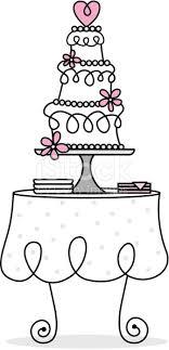 Retro Wedding Cake Table Stock Vector Art & More of Cake