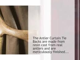Antler Curtain Tie Backs by Antler Curtain Tie Backs Set Of 2 Camotrading