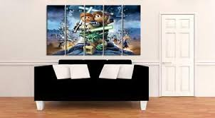 kunst lego wars canvas picture print 20x30inch