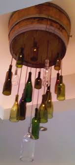 Wine Chandelier Diy Table Lamp Glass Bottle Hanging Light Recycle Bottles Made Out Of How To Make Rack Floor Kit Tags Fixture Lights With In Them Fitting