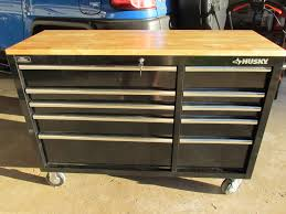 Lockable Medicine Cabinet Bunnings by Bench Mobile Work Benches Husky In Drawer Mobile Workbench Solid