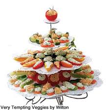 Using A Wilton Dessert Stand To Display These Tempting Vegetables Will Be Beautiful Showpiece For Your Food Table