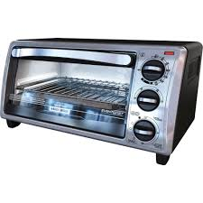 BLACK DECKER 4 Slice Toaster Oven In Stainless Steel