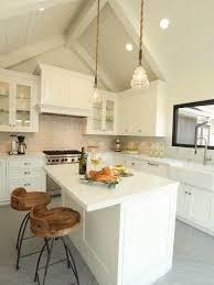 Shabby Chic White Ceiling Fans by Traditional Kitchen Ideas With Pendant Lighting For Sloped