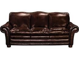 McKinsley Burgundy Leather Sofa American Signature Furniture