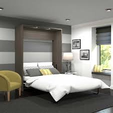 Bestar Wall Beds by Cielo Queen Wall Bed In Gray