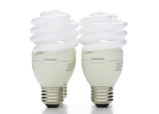 Philips Energy-Saver Twister Compact Fluorescent Light Bulb - 18W, 4pk