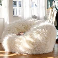 Snow White Faux Furry Luxury Bean Bag