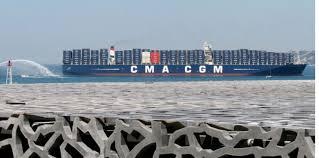 hollande inaugure le plus grand porte conteneurs battant pavillon