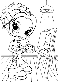 Coloring For Girls Lisa Frank Pages Ideas