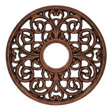 westinghouse 16 in round parisian scroll antique bronze ceiling