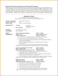 Federal Resume Samples Format Template Free Examples Government
