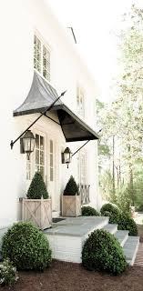 Beautiful front porch design with front door overhang