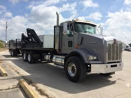 100 Heavy Duty Truck Auction 1999 Kenworth Heavy Spec T800 Alum Flat Bed Truck With Boom And