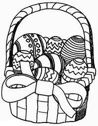 Easter Basket Of Eggs Coloring Pages