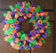 Deco Mesh Wreath Made By Me From Dollar Tree Items