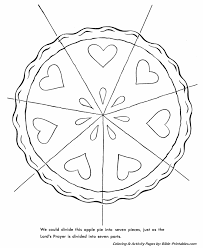 The Lords Prayer Coloring Page 7