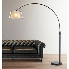 Chrome Overhanging Floor Lamp by Arched Floor Lamps You U0027ll Love Wayfair