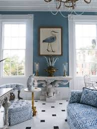 Carolyne Roehm Bird Room Charleston Blue Living