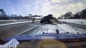 100 Tow Truck Kansas City Car Narrowly Misses Hitting Michigan Tow Truck Driver On Icy Freeway