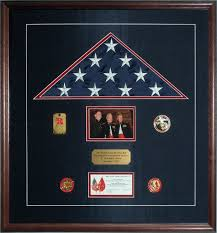 Flag Display That Commemorates The Commandant Of Marine Corps Coin Presentation
