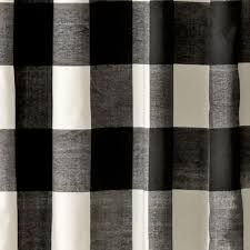 Land Of Nod Blackout Curtains by Buffalo Check Black 63