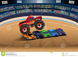 Monster Truck Jumping On Cars Stock Vector - Illustration Of ... Zoob 50 Piece Fast Track Monster Truck Bms Whosale Jam Returning To Arena With 40 Truckloads Of Dirt Trucks Hazels Haus Jam Track For The Old Train Table Play In 2018 Pinterest Jimmy Durr And His Mega Mud Conquer Jump Diy Toy Jumps For Hot Wheels Youtube Dirt Digest Blog Archive Trucks And Late Model A Little Brit Max D Lands Double Flip At Gillette Youtube 4x4 Stunts 3d 18 Android Extreme Car Impossible Tracks 1mobilecom Offroad Desert Apk Download Madness Events Visit Sckton