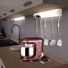 monzana led unterbauleuchte lichtleiste unterbauleiste küchenle 5 haken 2 steckdosen 2 usb ausgänge wandleuchte le