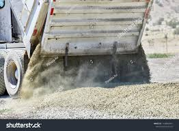 Close Tailgate On Dump Truck Spreading Stock Photo (Edit Now ...