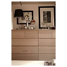 Ikea Malm White Office Desk by Malm Chest Of 6 Drawers White Stained Oak Veneer 80x123 Cm Ikea