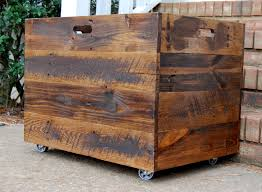 Tall Extra Large Wooden Crate Toy Chest Storage Box