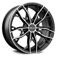 100 Helo Truck Wheels HE907 16x7 38 5x1143 726 Black Rims Set Of 4