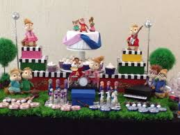 Alvin And The Chipmunks Cake Toppers by Alvin And The Chipmunks Twins Birthday Party Ideas Photo 4 Of 19